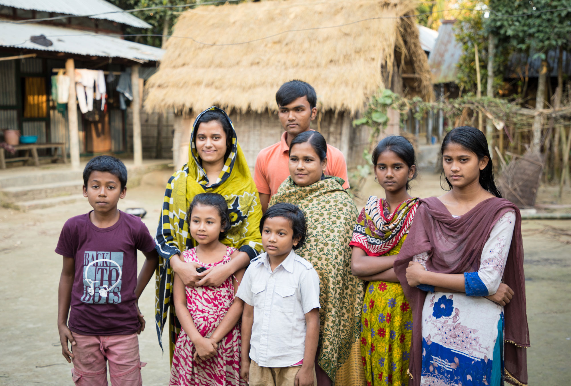 A group of local village people in Bangladesh