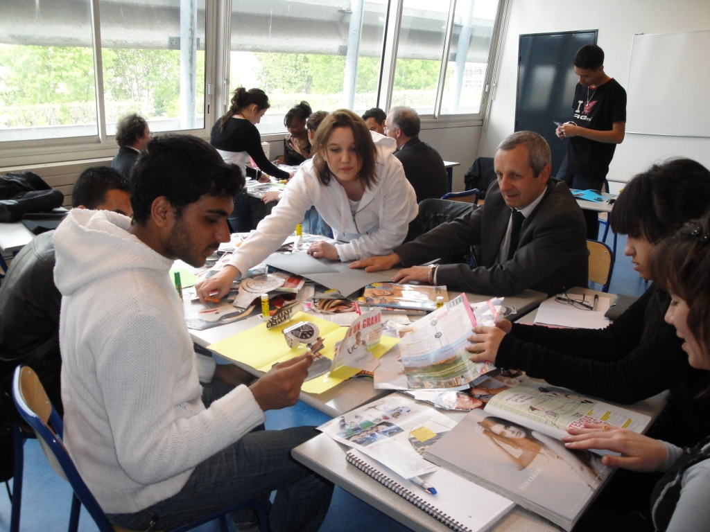 High school students in career mentoring program in France