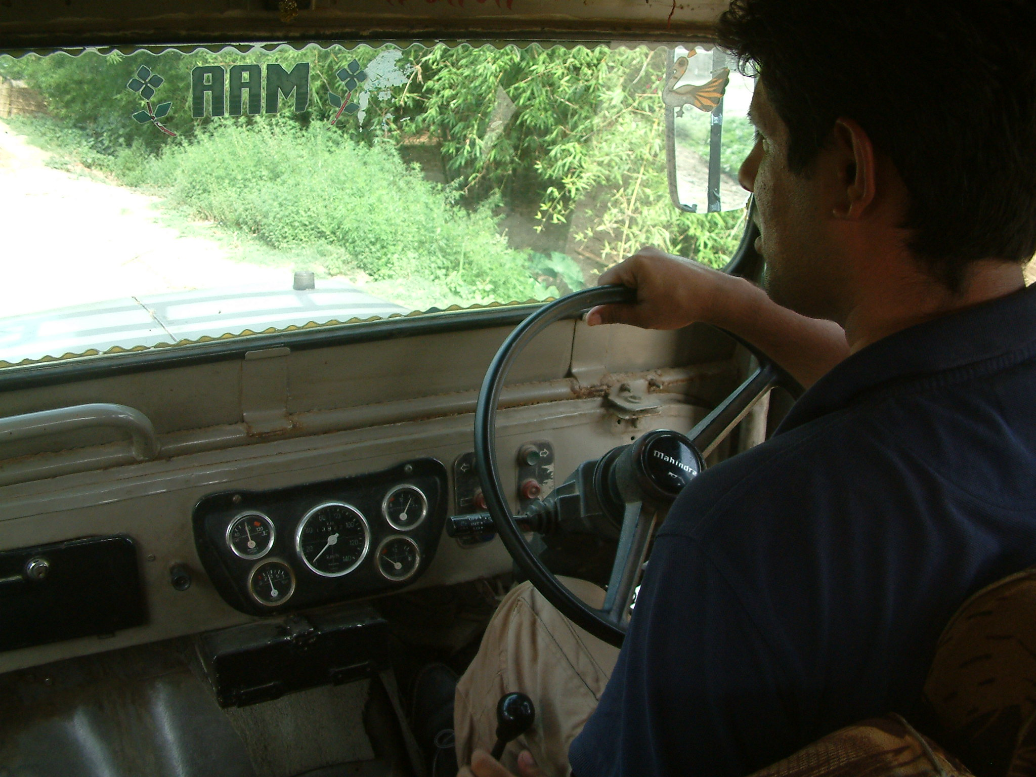 Man driving car in India