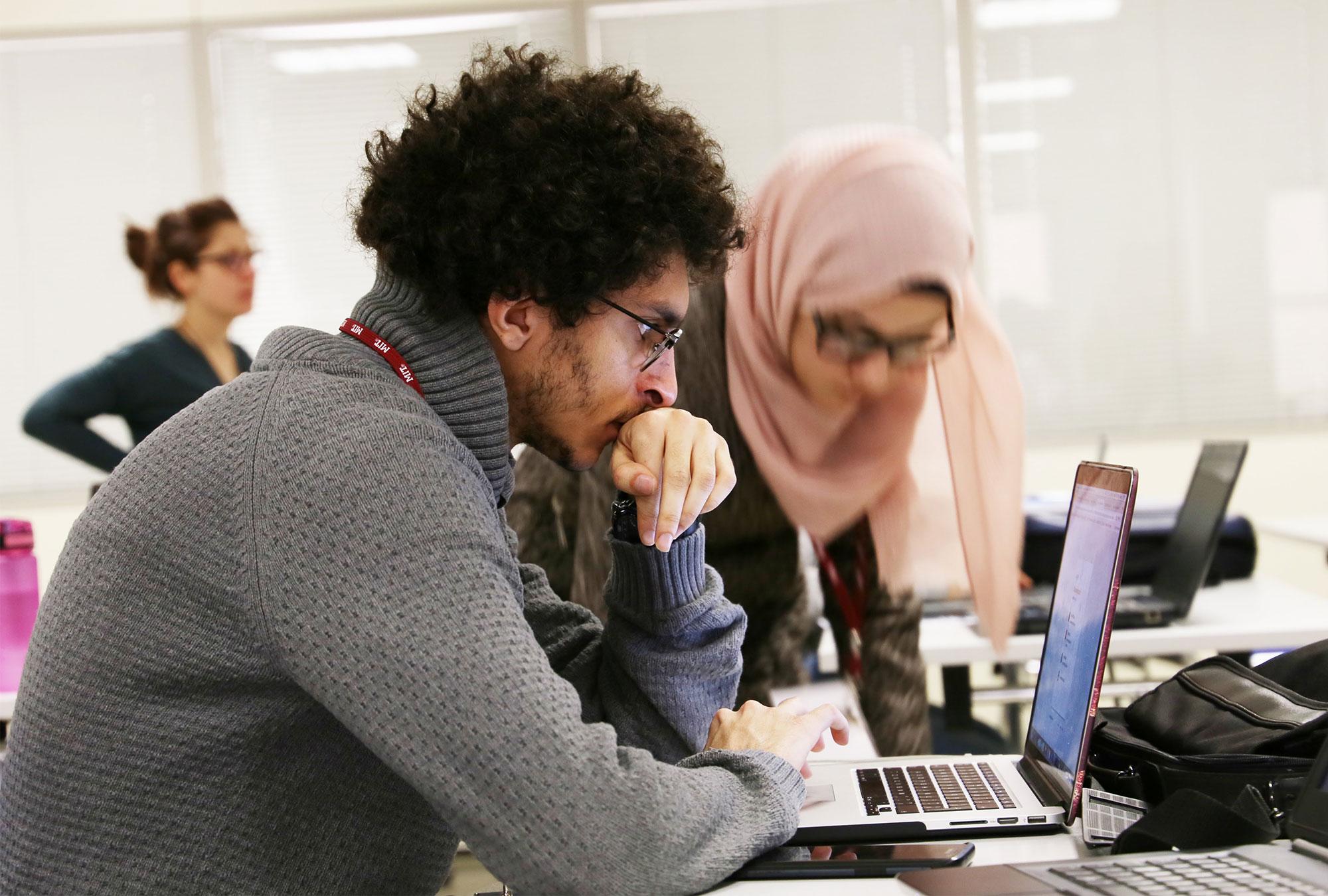 Learners work together during workshop