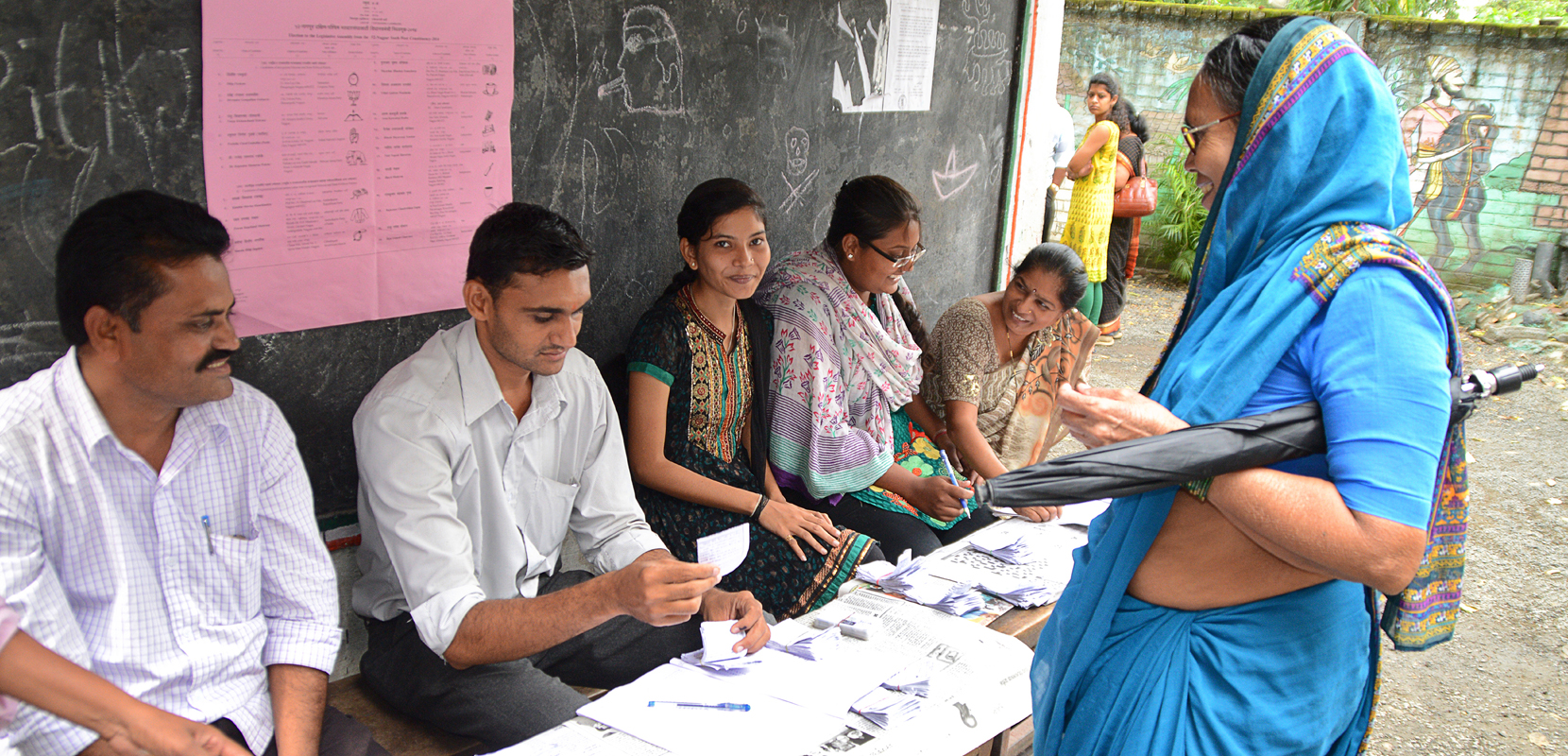 Image: Elections in Nagpur, India