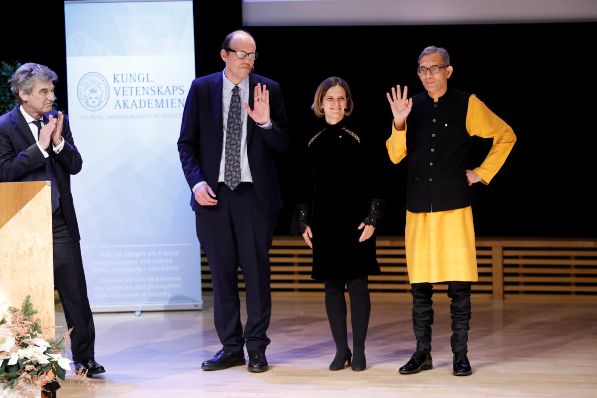 Michael Kremer, Esther Duflo, and Abhijit Banerjee