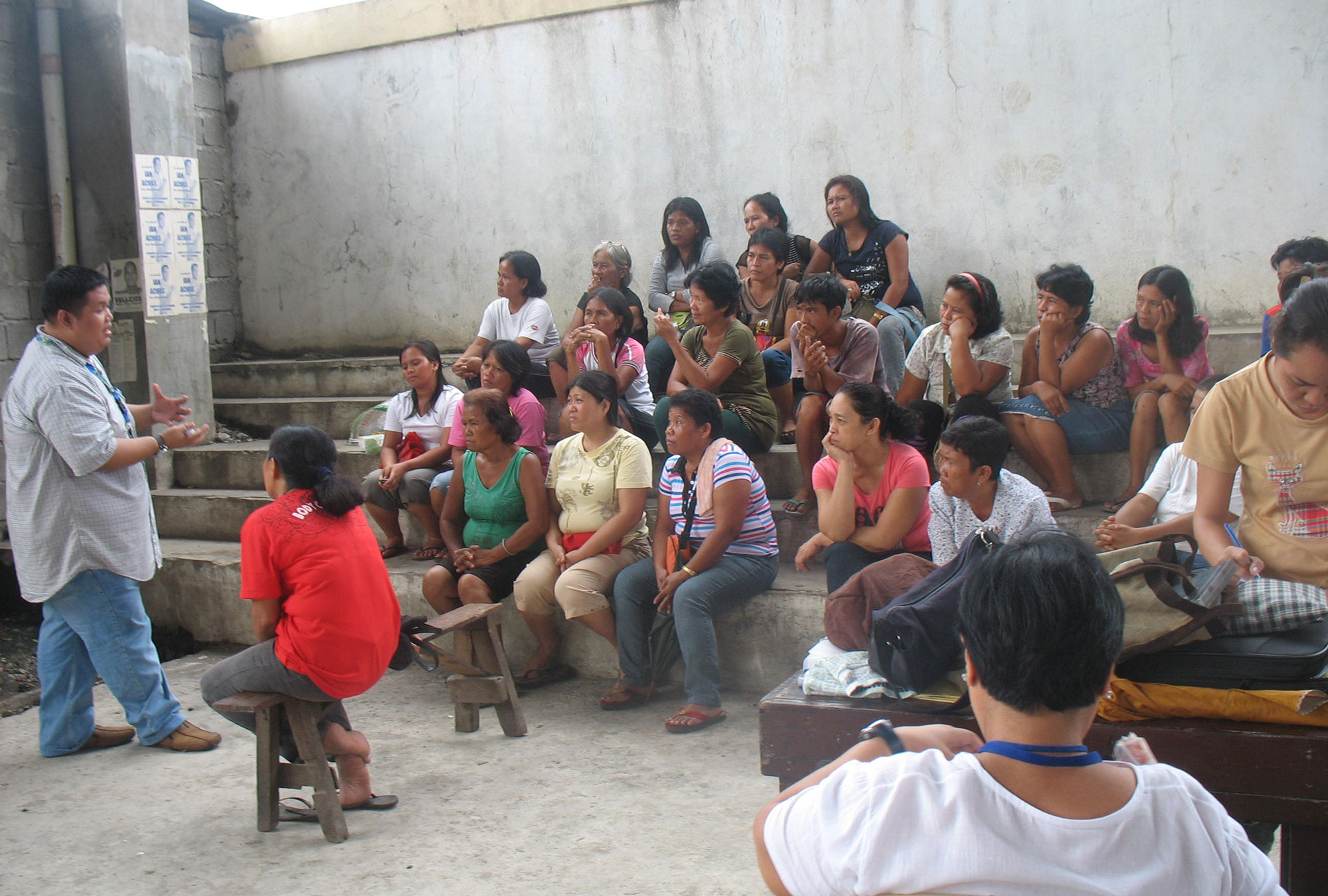 Women receiving financial literacy training in the Philippines
