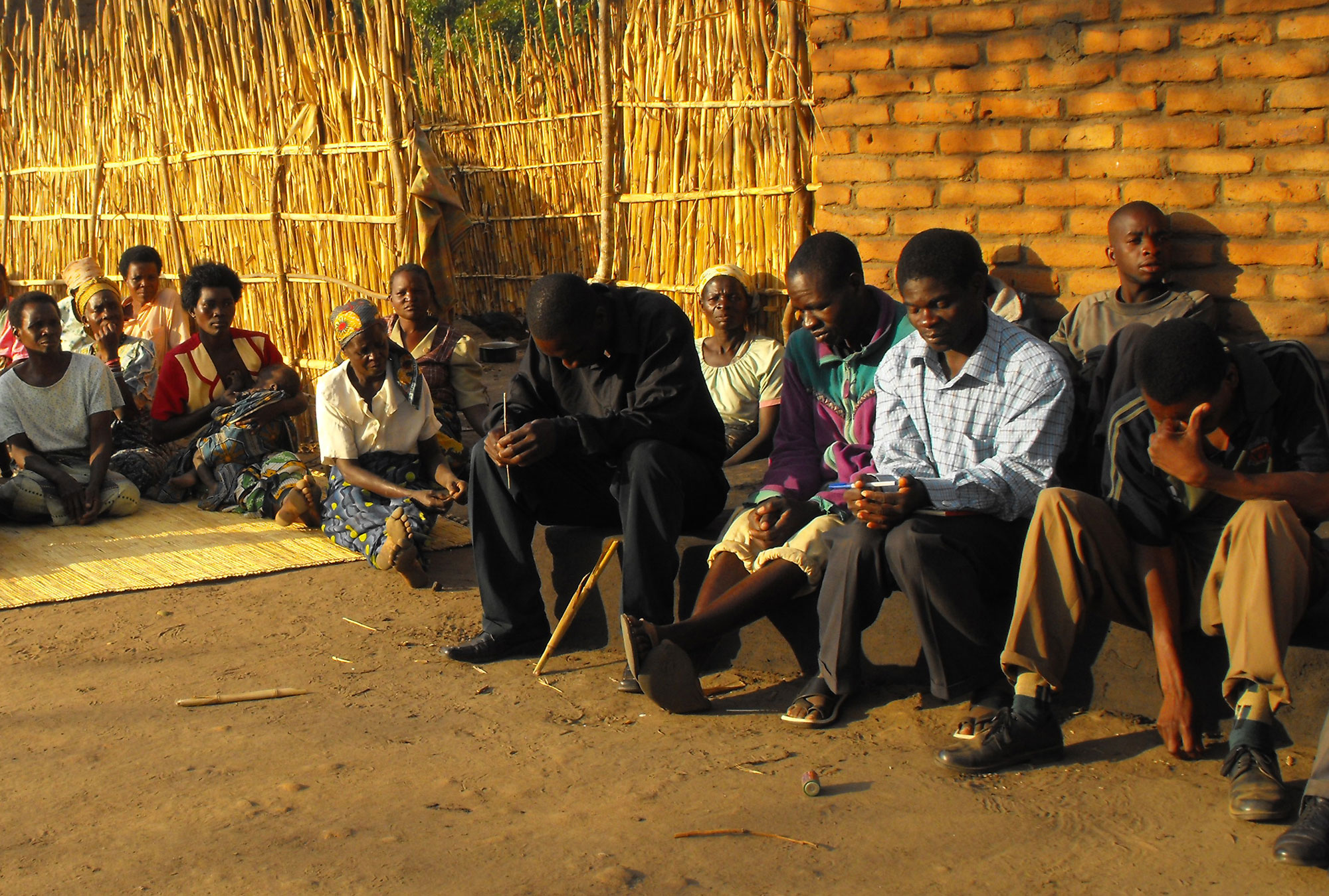 A village gathering in Malawi