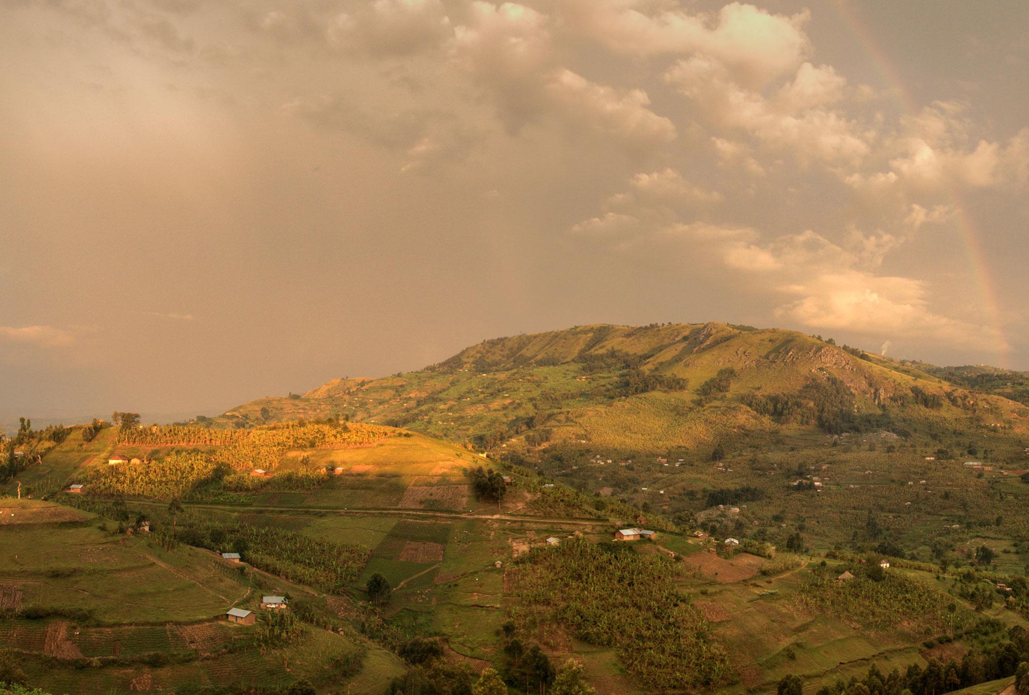 A sloping landscape in western Uganda