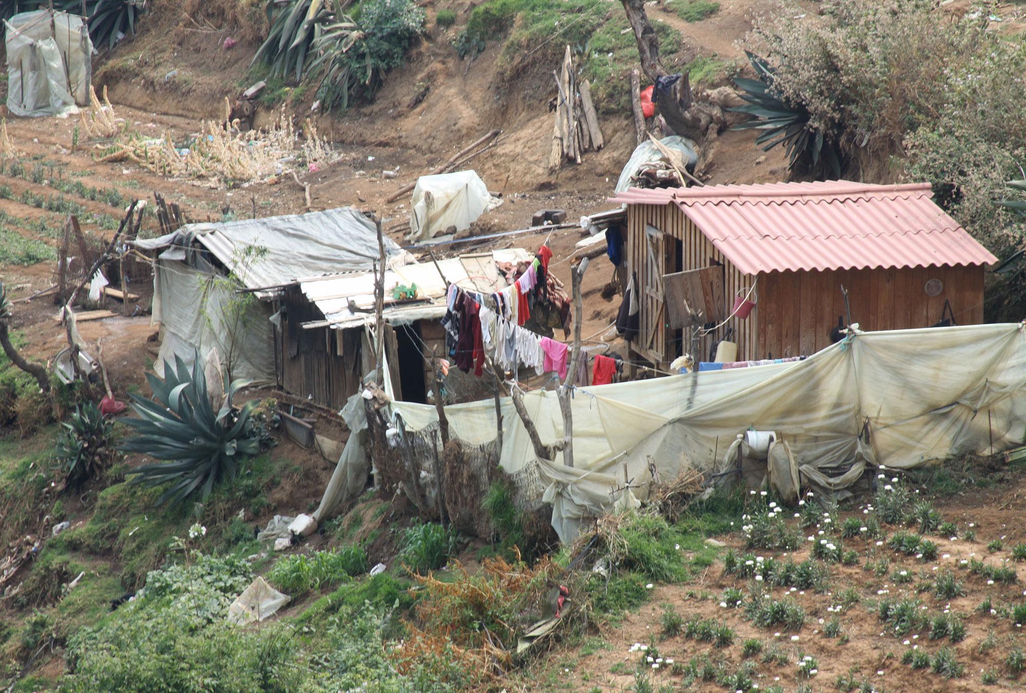 Slum housing in Mexico