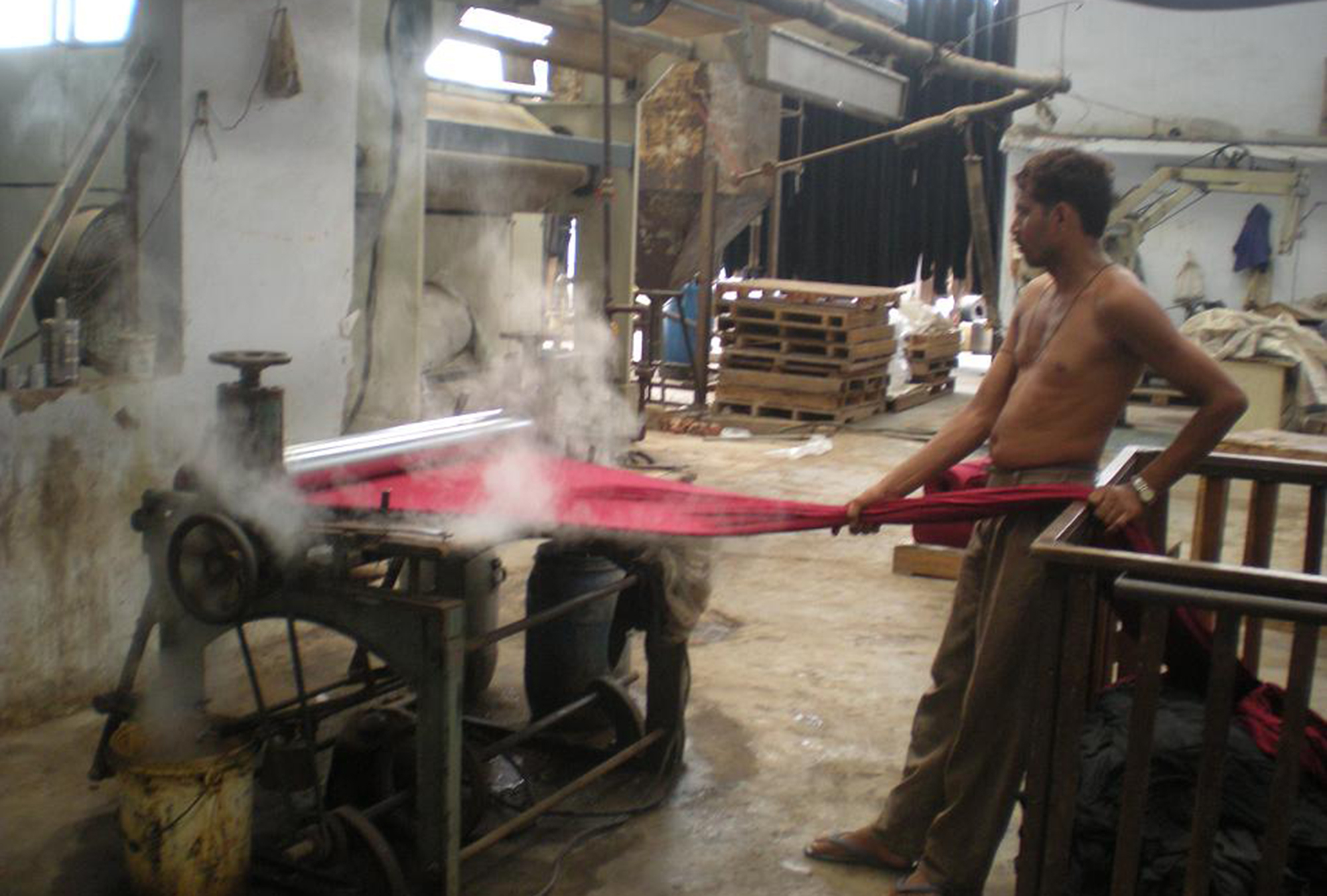 Factory worker in India