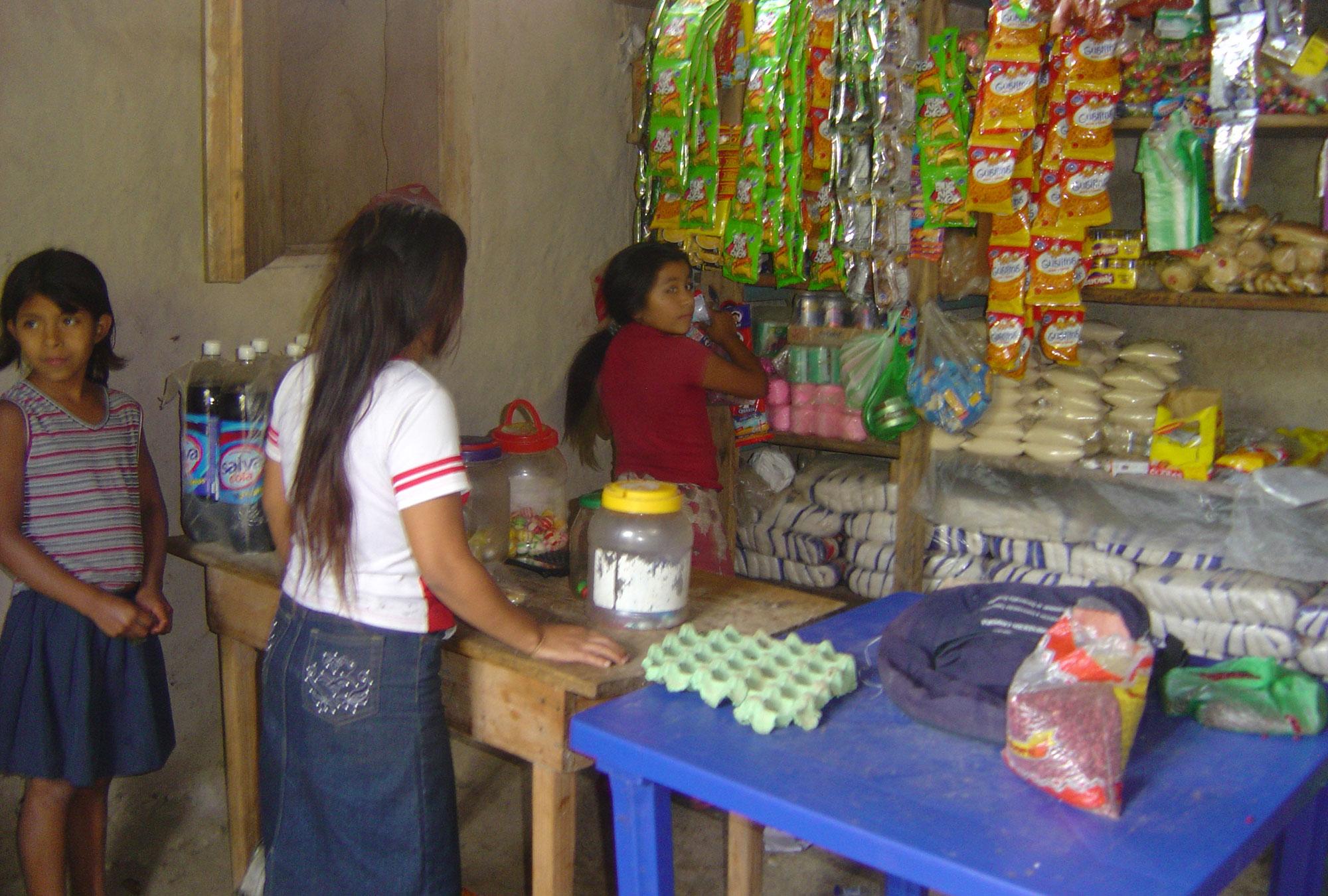 Children working in a store