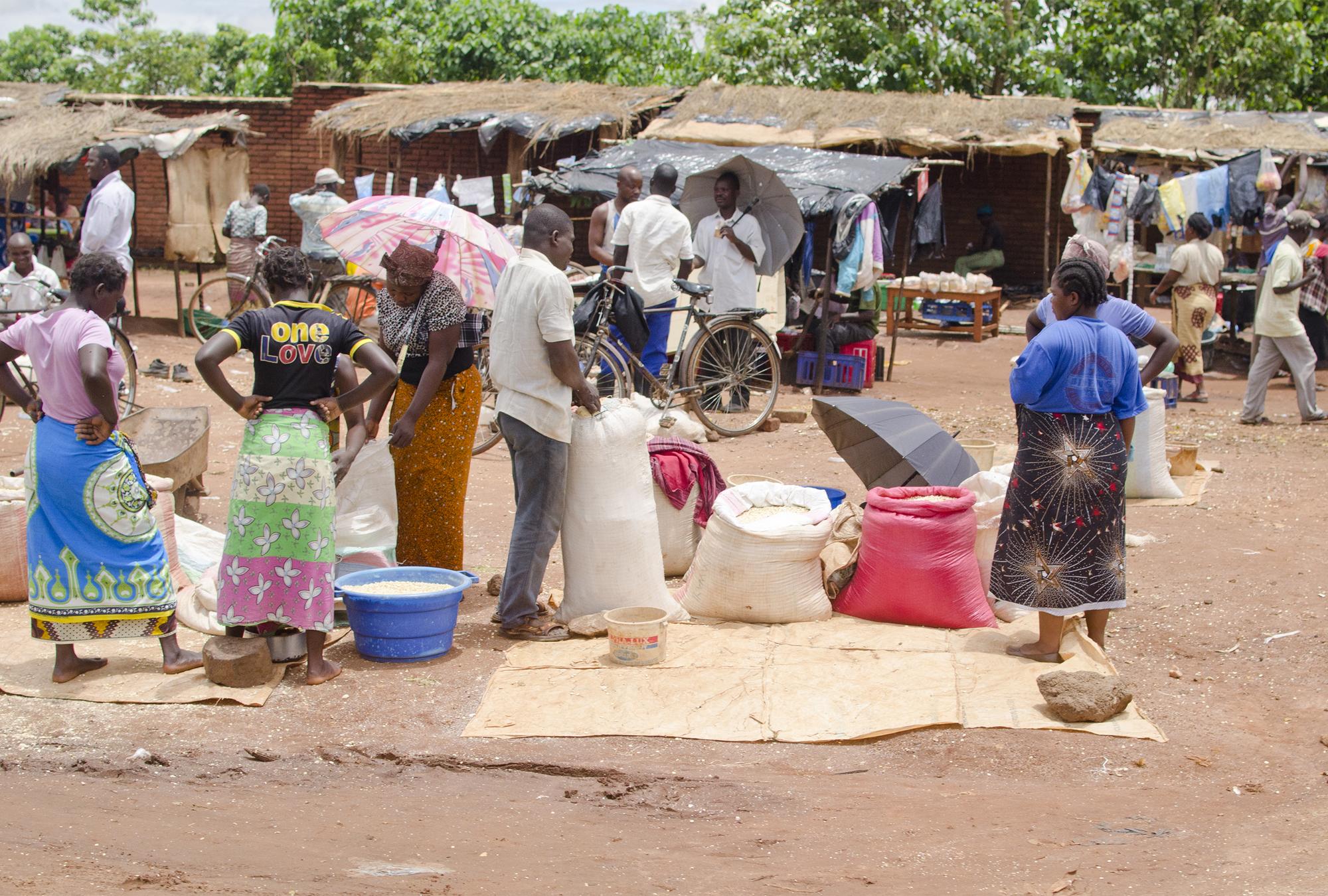 Food market in Malawi