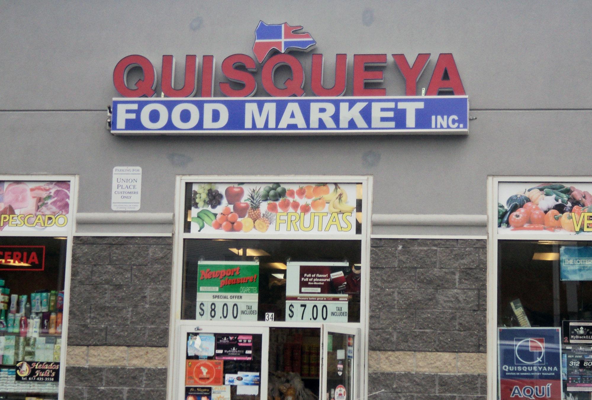 Entrance to Quisqueya Food Market