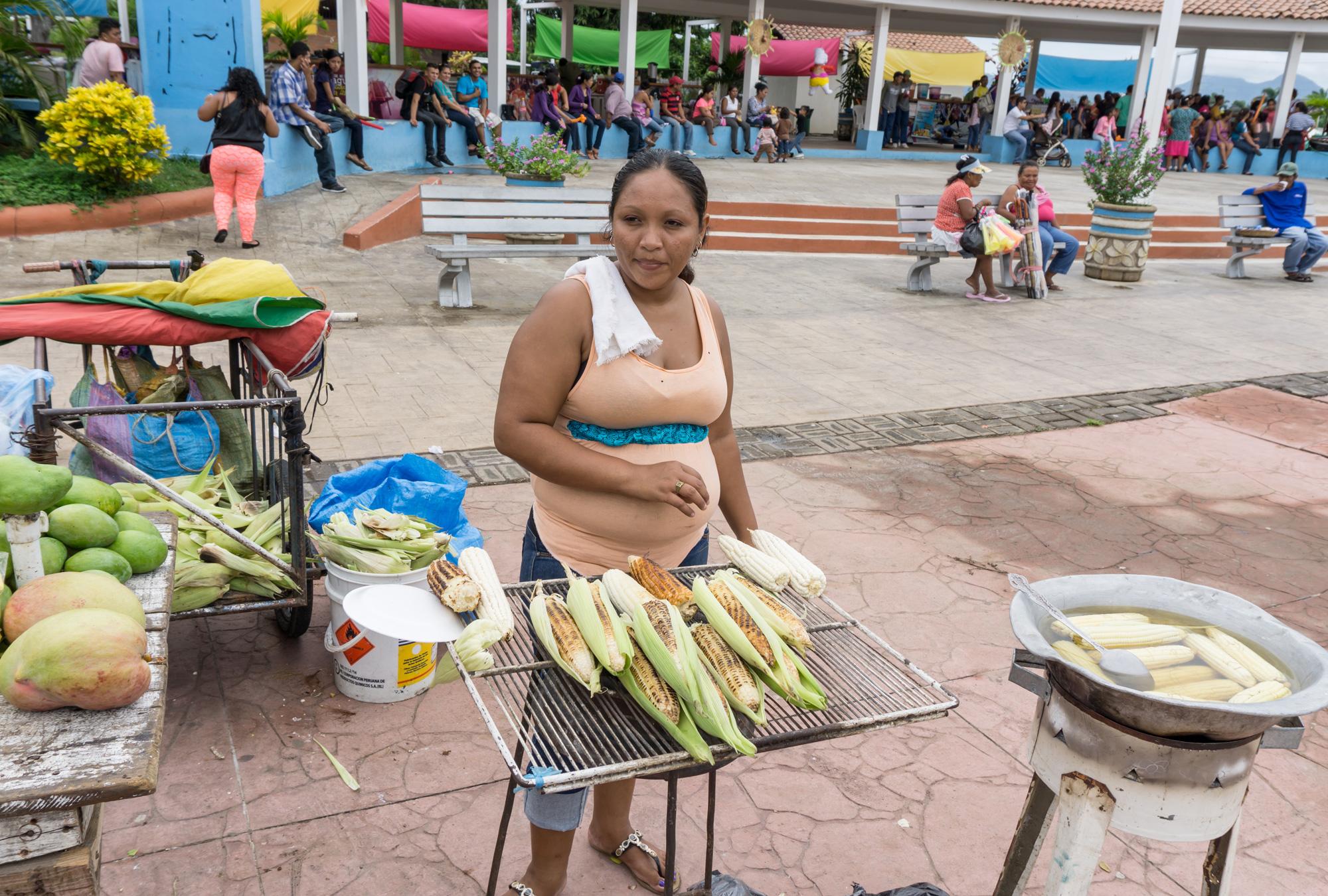 Female street vendor in Managua, Nicaragua