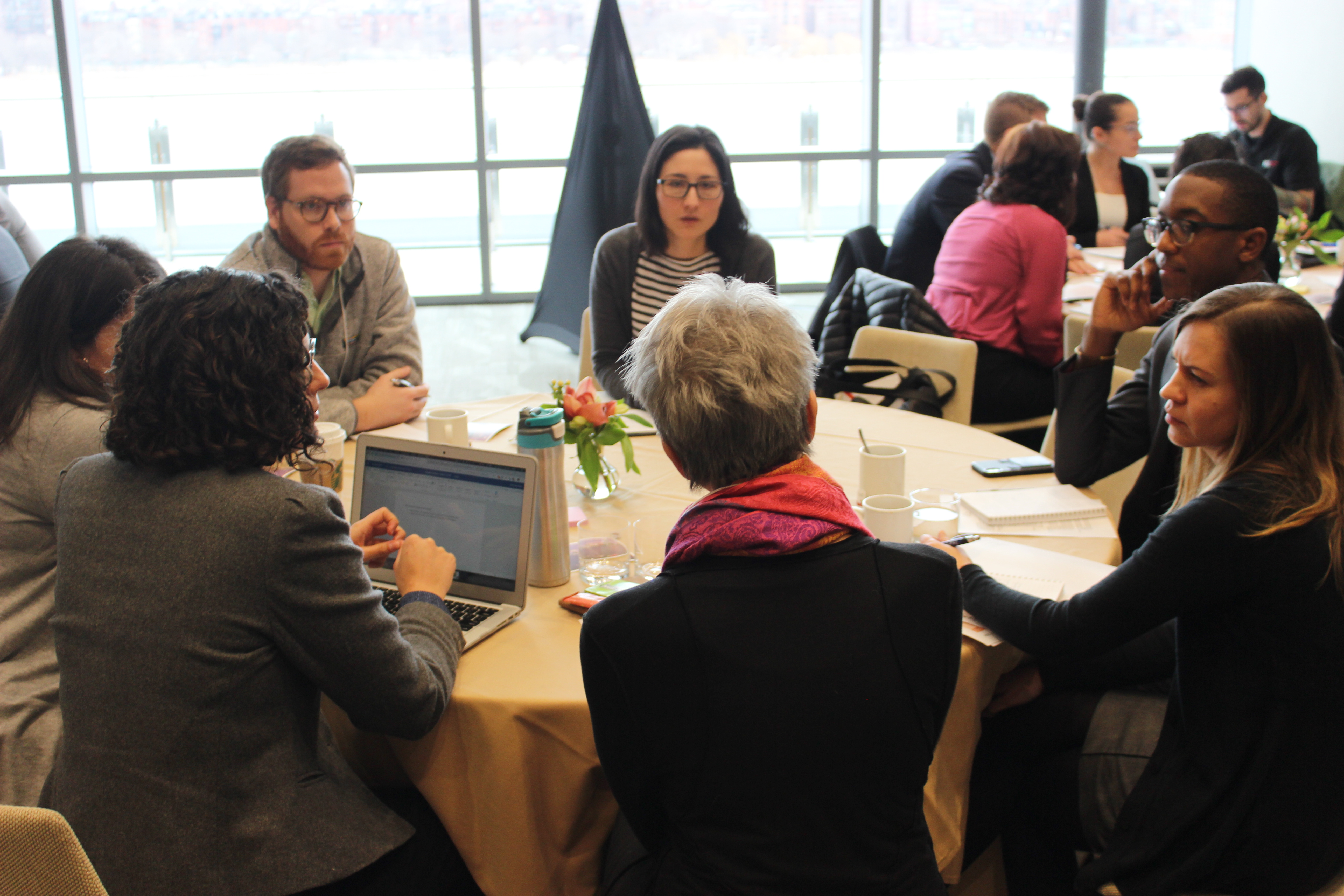 Participants at last year's convening for the State and Local Innovation Initiative discuss open questions around developing evaluations during a breakout session.