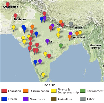 Map Of Asia Resources.South Asia Projects Map Jpg The Abdul Latif Jameel Poverty Action Lab