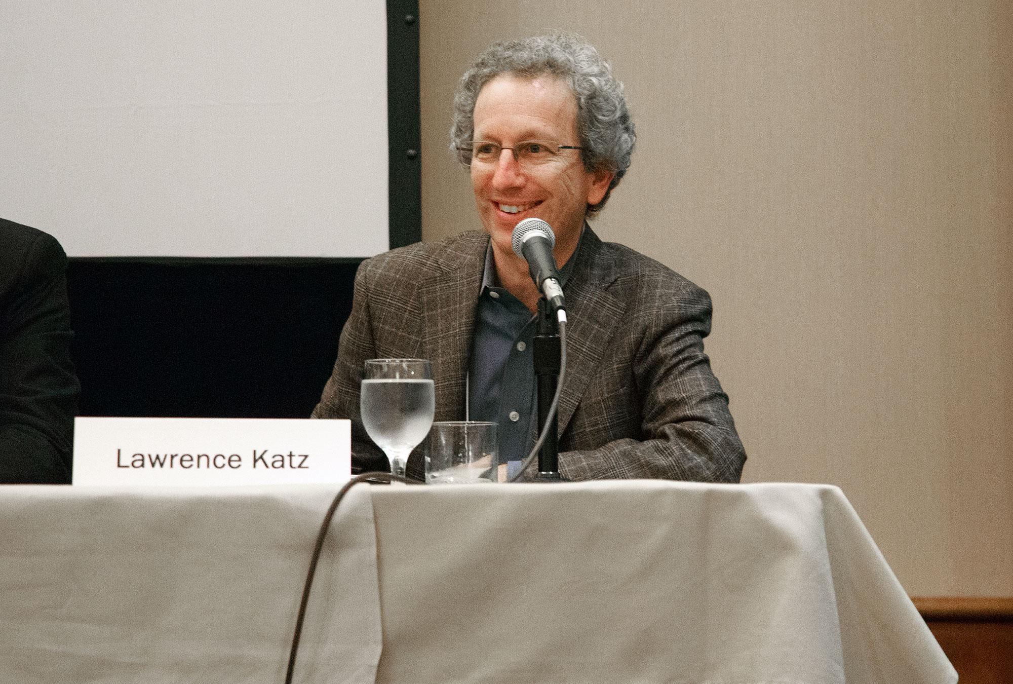 Larry Katz speaks on a panel