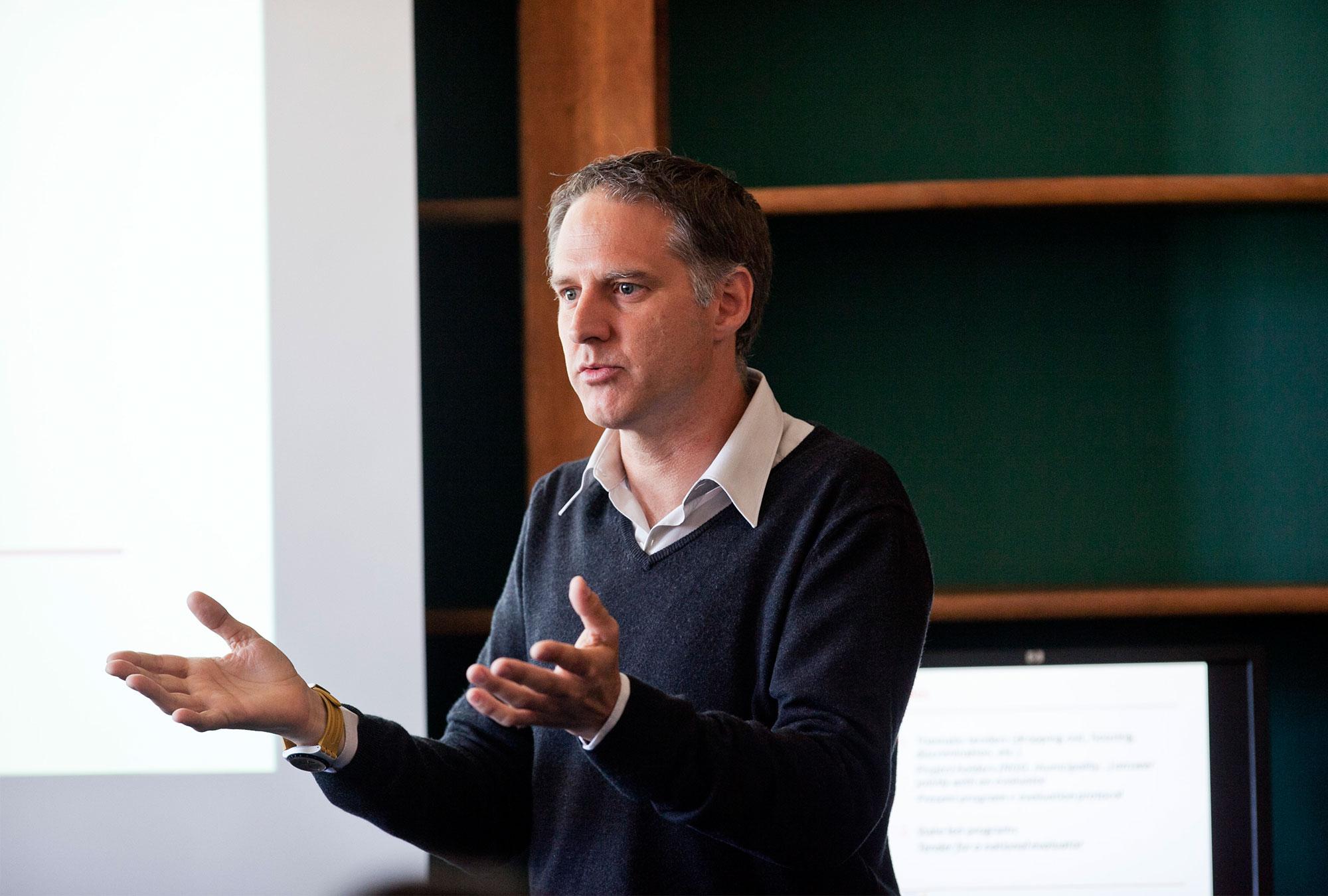 Marc Gurgand presenting