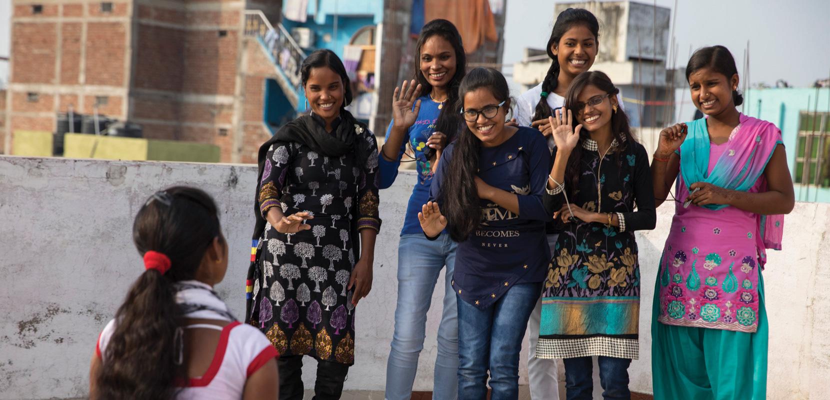 Adolescent girls in India