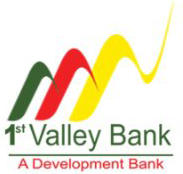 1st Valley Bank logo with three mountain shapes