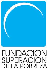 Fundacion superacion de la pobreza logo with crescent shape