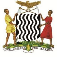 Government of Zambia logo with two people holding shield