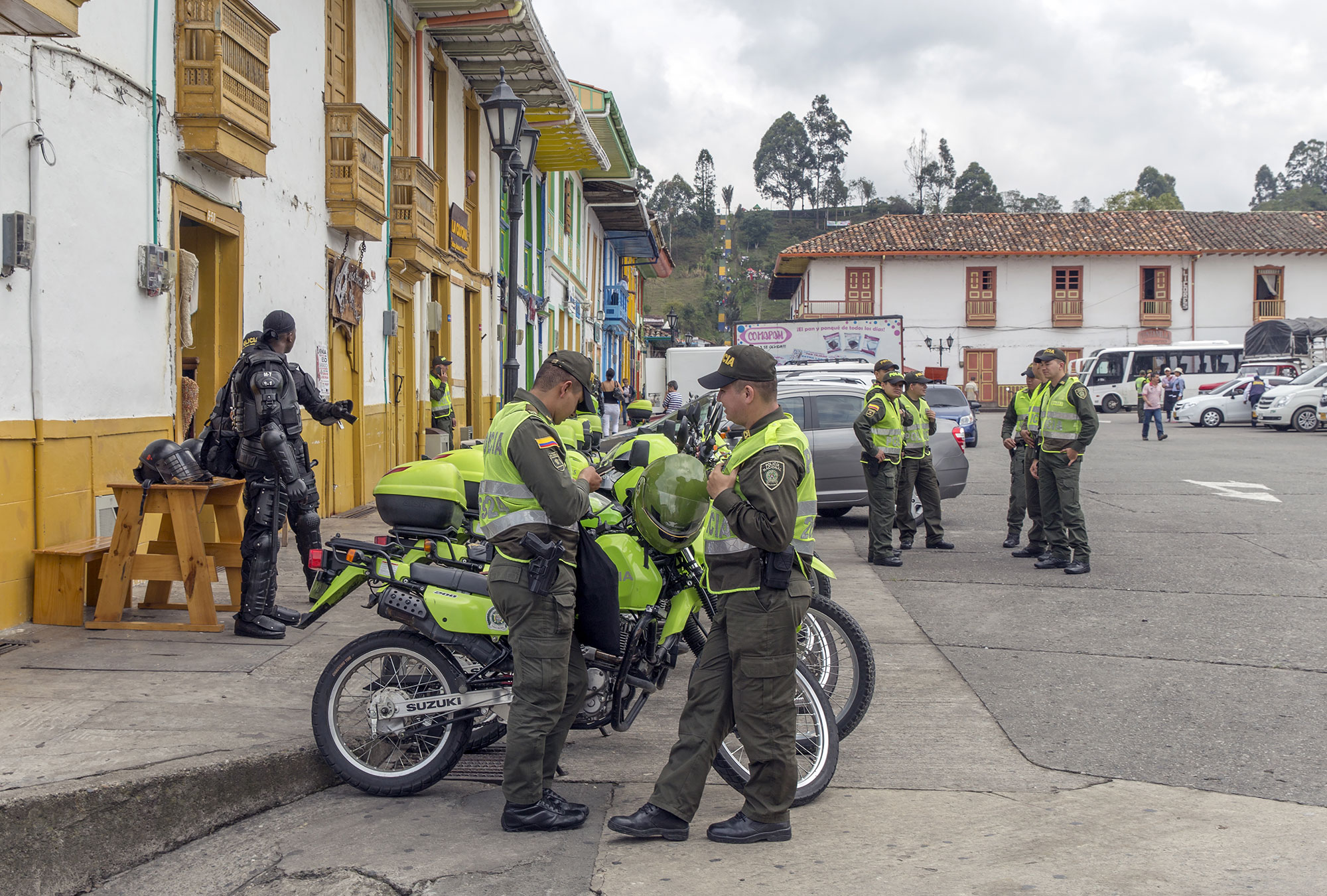 Police officers in Colombia