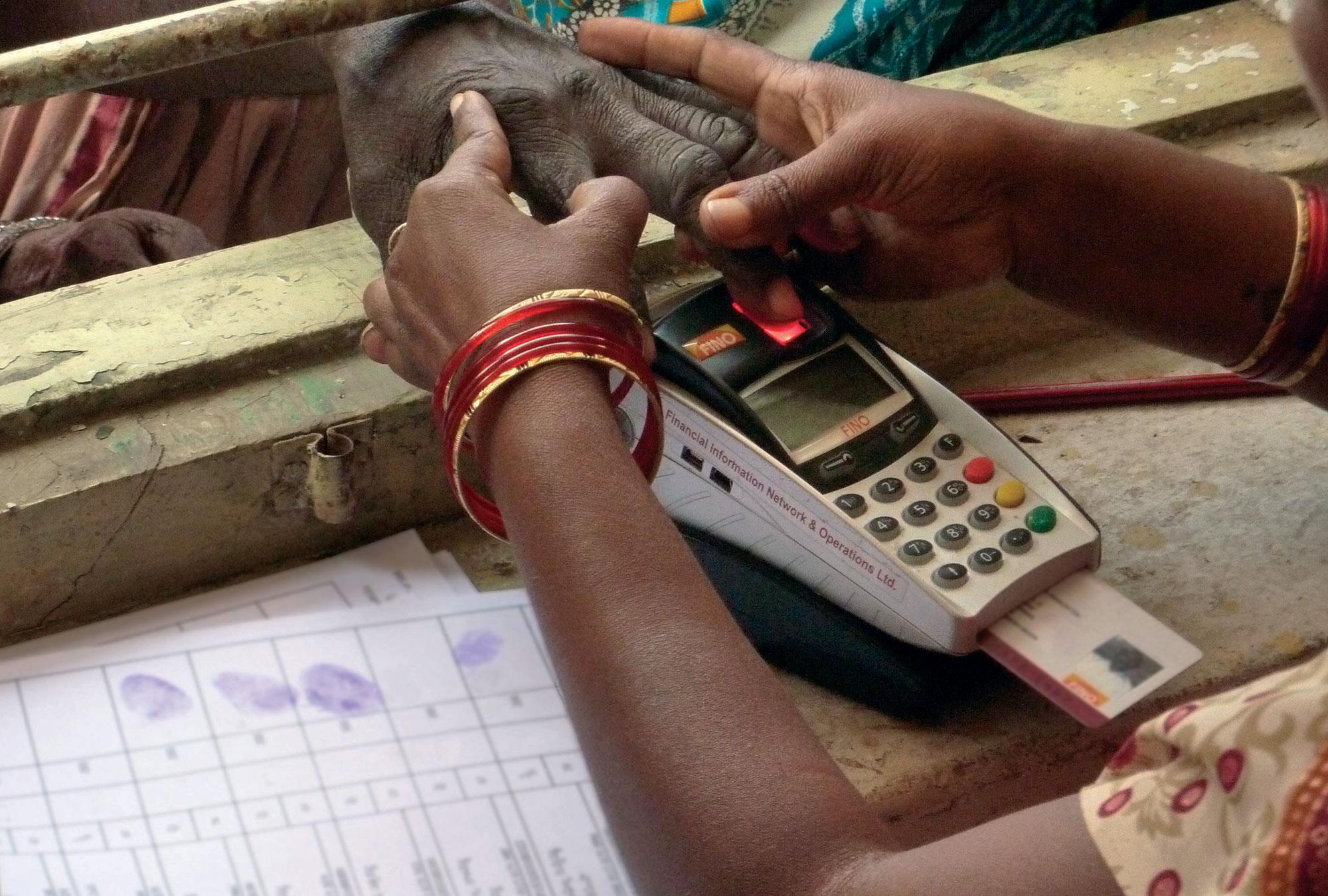 Biometric authentication using thumbprint