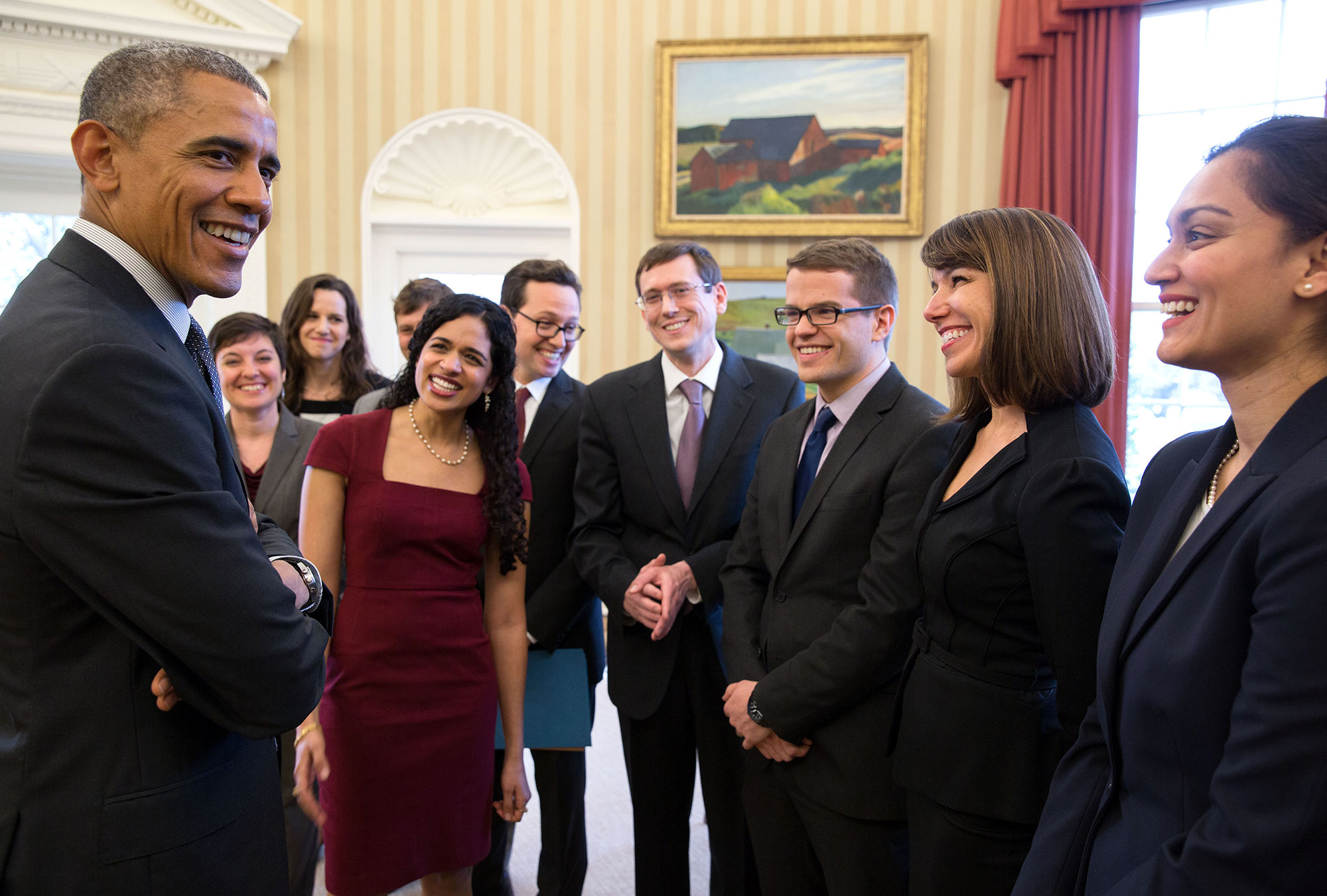 President Obama with members of the SBST