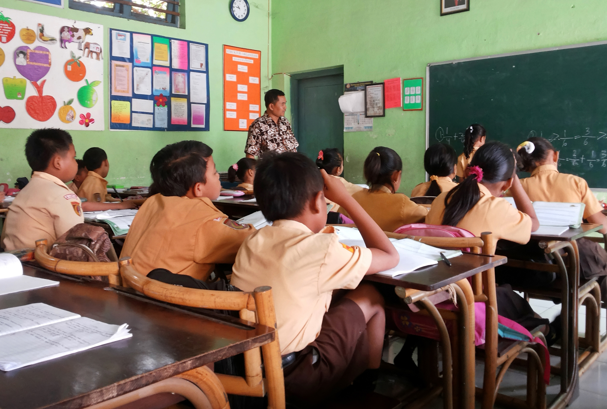 Children in a classroom in Indonesia.