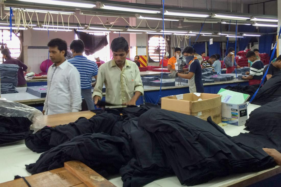 garment workers in a factory