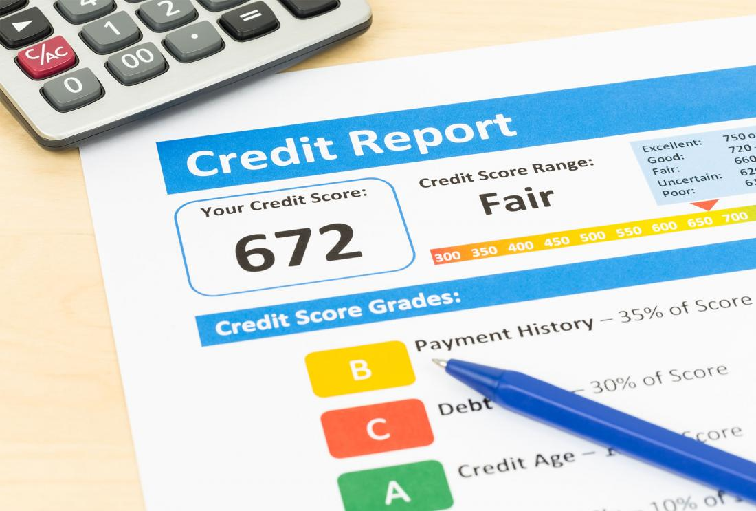 Credit report print out