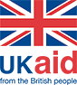 UK AID from the British People logo with image of UK flag