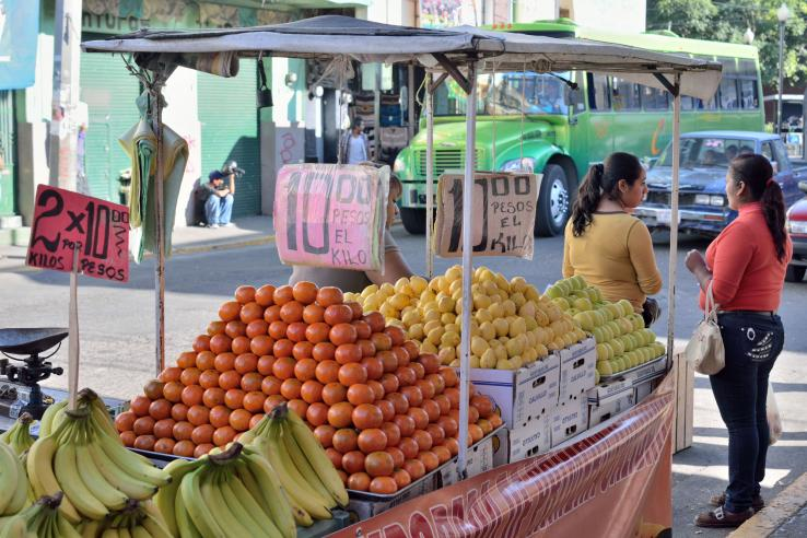 Fruit vendor in Mexico