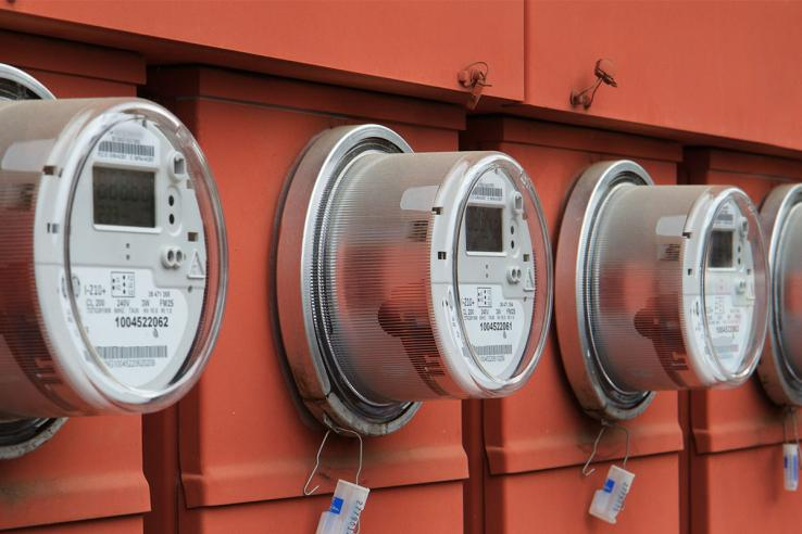 Electricity meters track residential energy use. Photo: Shutterstock.com