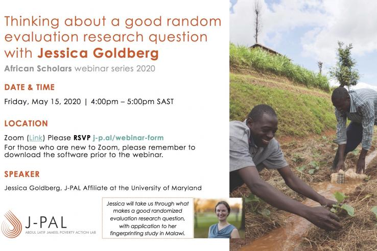 Webinar with Jess Goldberg - African Scholars