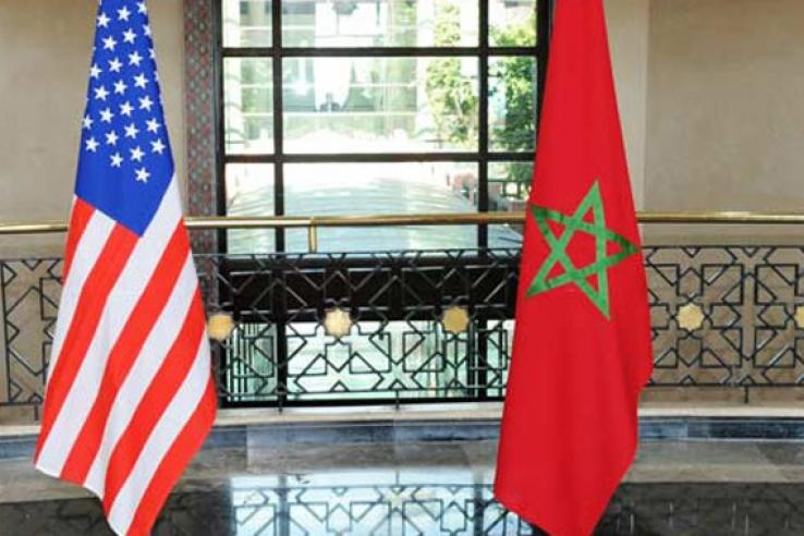 the American and Moroccan flag