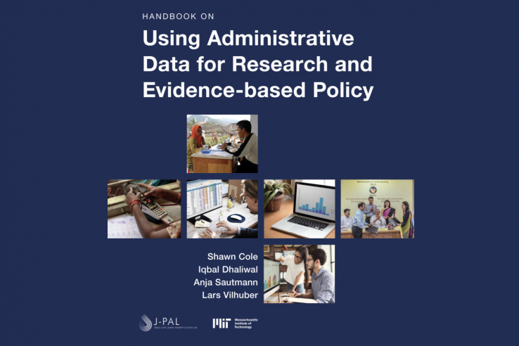 The cover of the IDEA Handbook, with a grid of photos showing key points in the process of accessing, using, and communicating data