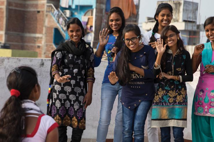 Adolescent girls in India