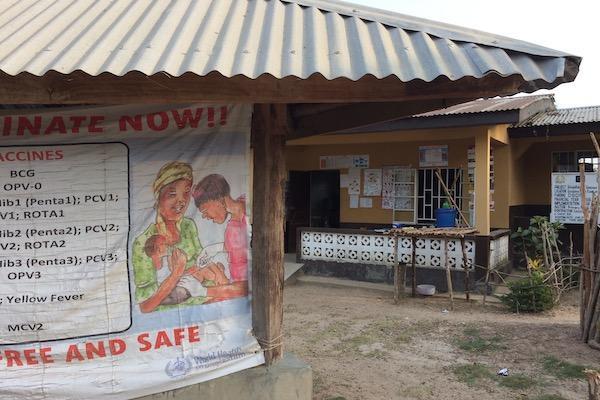 A clinic in Sierra Leone.