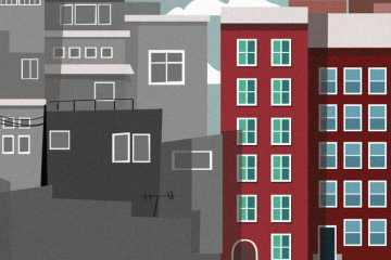 Illustration of apartment buildings