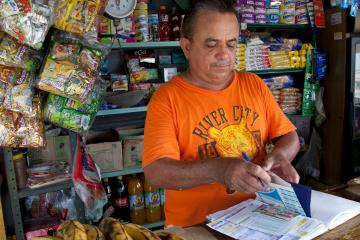 A small business owner in Colombia.