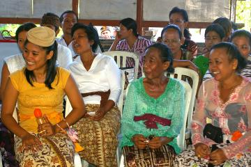 Indonesians participate in their community block grants meetings and decision-making process as part of Generasi, 2007